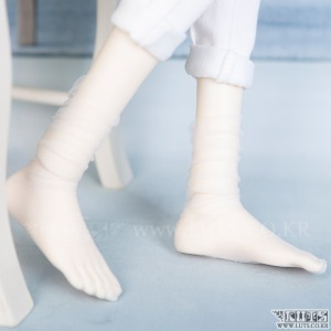 SDF65 See-through Rouge Socks (White)