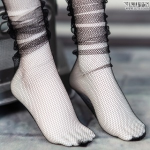 SDF See-through loose socks (Black)