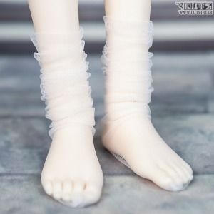 SDF See-through loose socks (White)