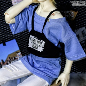 SDF65 Off-Shoulder Bustier (Blue)