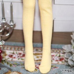 KDF Basic Over-knee Socks (Yellow)