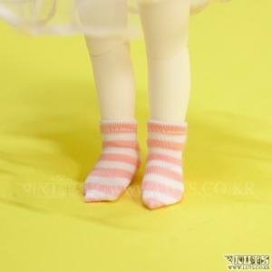 HDF Stripe Short Socks (Pink)