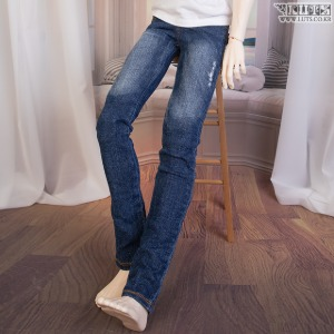 GSDF New Washing Damage Jeans - Blue